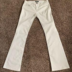 WHBM white jeans boot cut